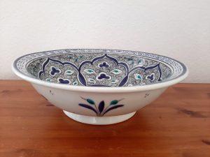 Stunning handmade Turkish ceramic bowl - old historical Anatolian design