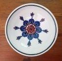 Handmade Turkish ceramic bowl - traditional Iznik floral and geometric design